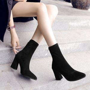 (2 for $40) Chunky heels boots